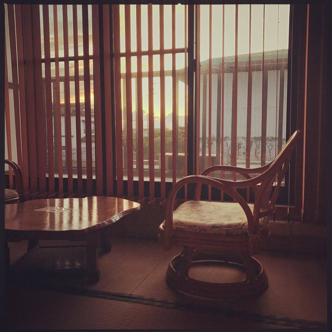 October 4, 2017  #Fukushima  update: Up at 5 for the first light of morning, but not after 8 hours of sleep after long travels. This is the view from Tomoko's ryokan, a little portrait of life that has returned to Odaka. The image contrasts with so many that I've taken of abandonment, the memory of normal life mixed with slow decay following the hydrogen explosions and resulting spread of radiation from Daiichi, the power plant that made Fukushima synonymous with disaster. A little later on in the morning a new sound that I've never heard here also filled the morning: a passing train. Quiet and smooth sounding as it passed in the distance it was still notable, signifying a presence that I've never felt like this before. The station down the street is now open with hourly JR service connecting this place with the rest of Japan, I expect school children of nearby towns to be arriving later.