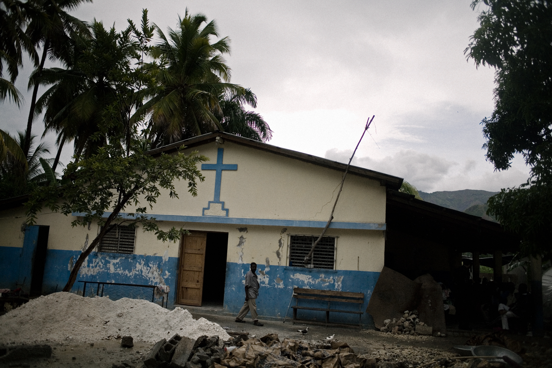 The dilipated Azil St. John De Dieu where more than 70 people lived