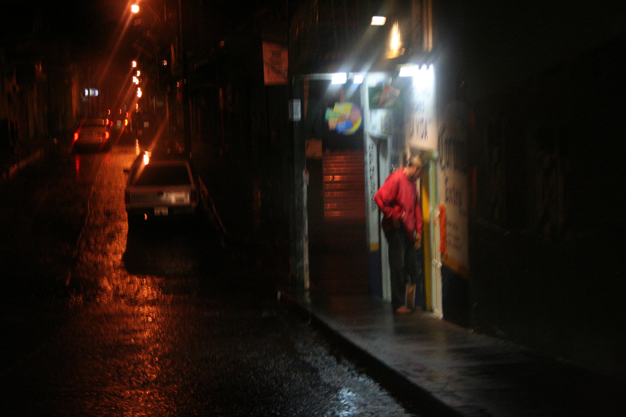 The hard streets of Uruapan in Michoacán State.