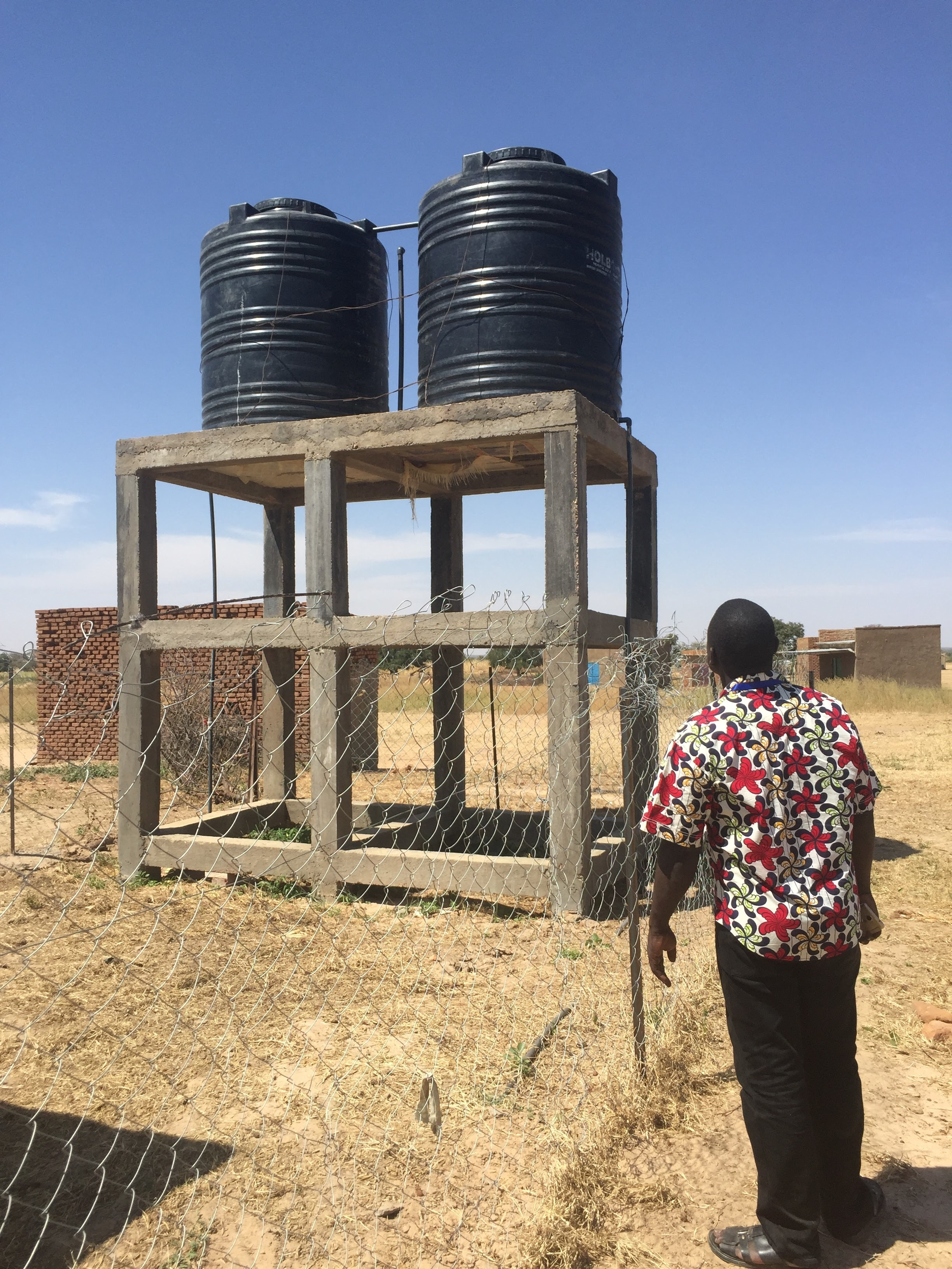 Water holding tanks in Maramara allow for crop irrigation during the dry season.