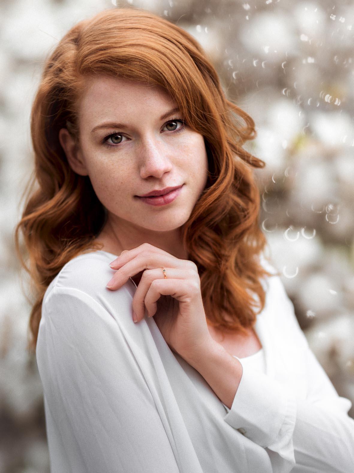 Sinnliche Nahaufnahme von Beautymodel Antonia