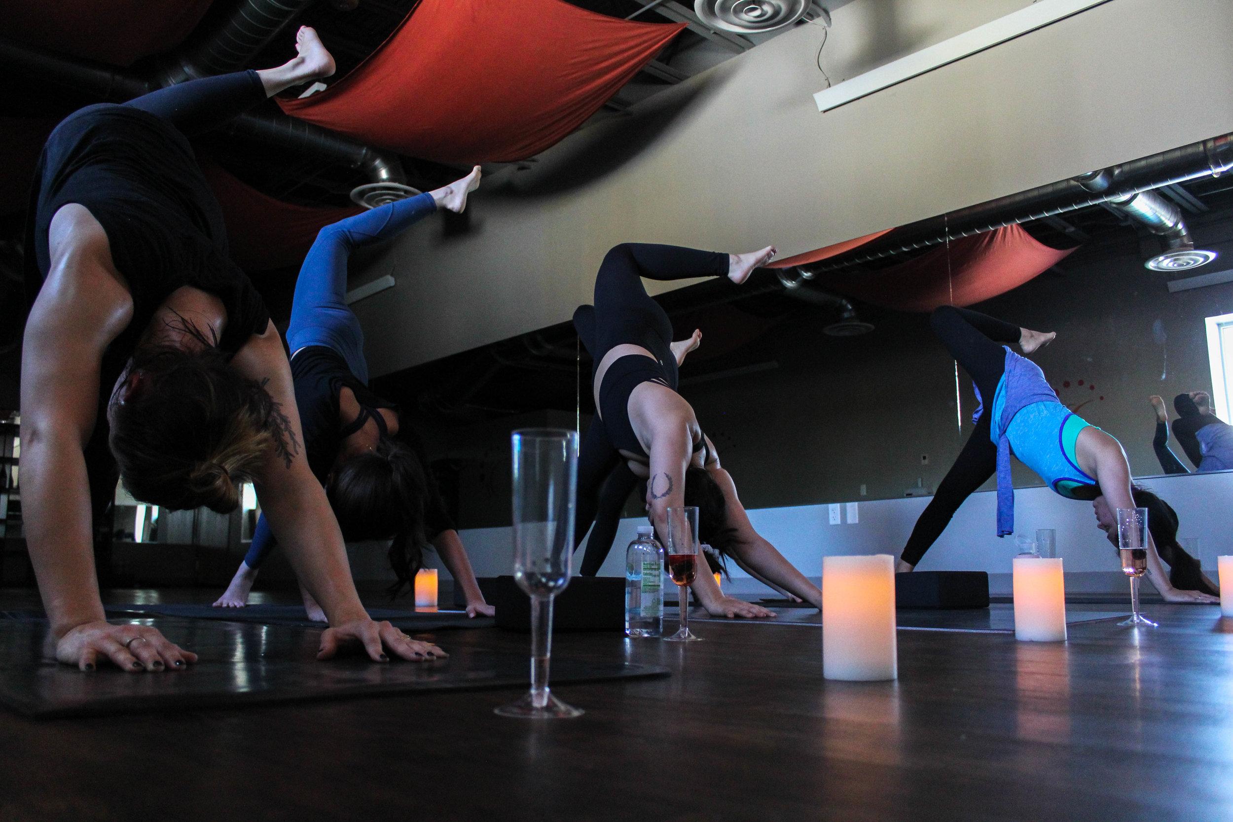flow to go bachelorette yoga