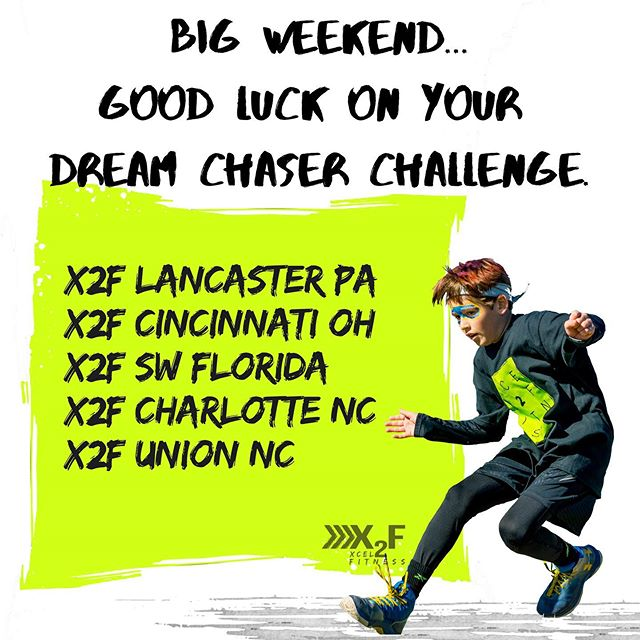 Good luck to the X2F chapters running their end of season Dream Chaser Challenge this weekend. @x2flancaster @x2fcincy @x2fswflorida @x2fcharlotte @x2funion! #Dreamchasers #Xcel2Fitness #obstaclecourse #youthdevelopment
