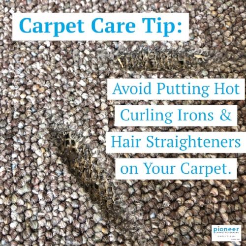 Carpet Care Tip Avoid putting hot curling irons on carpet.JPG