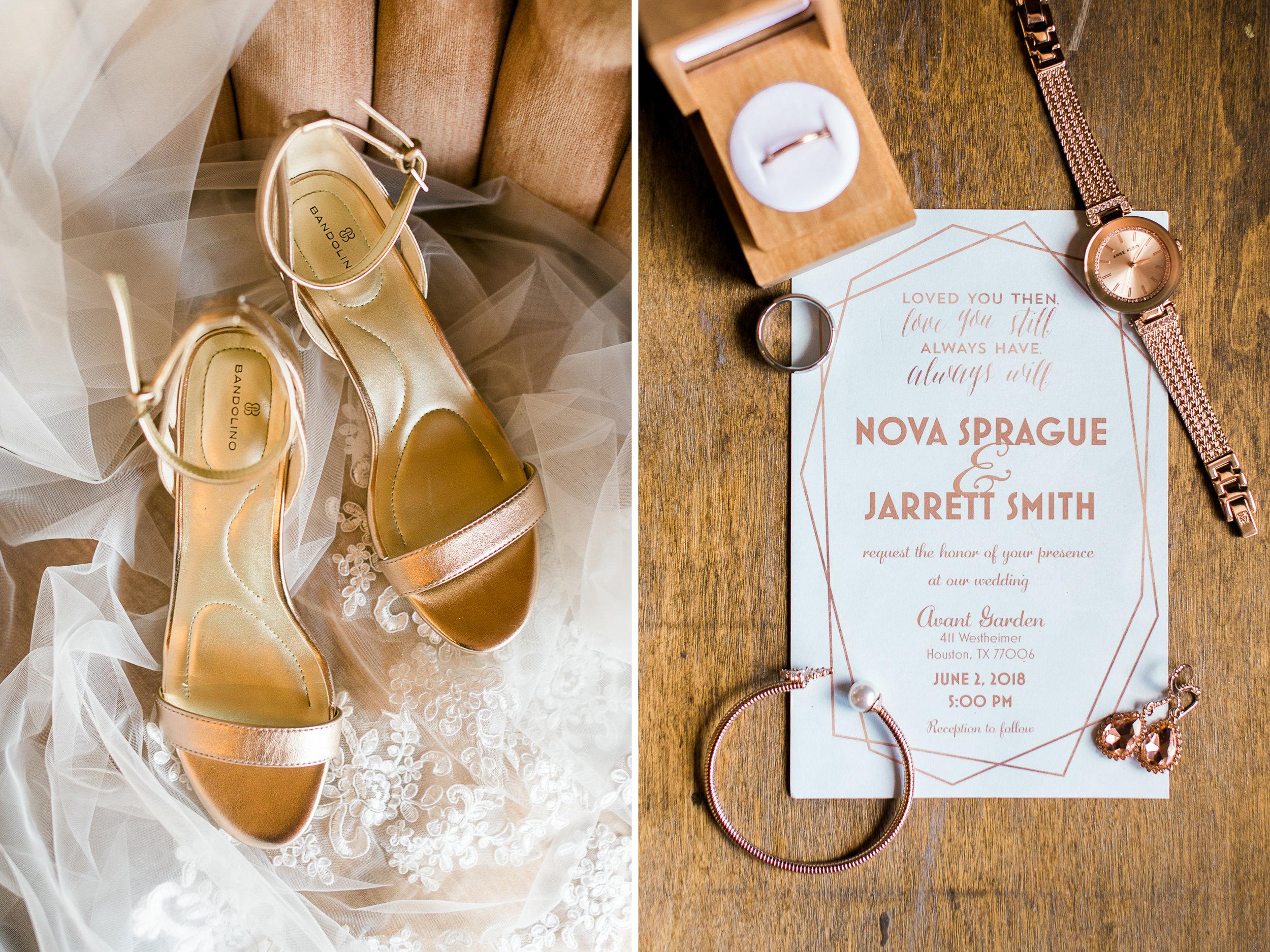 Rose Gold Bridal Accessories