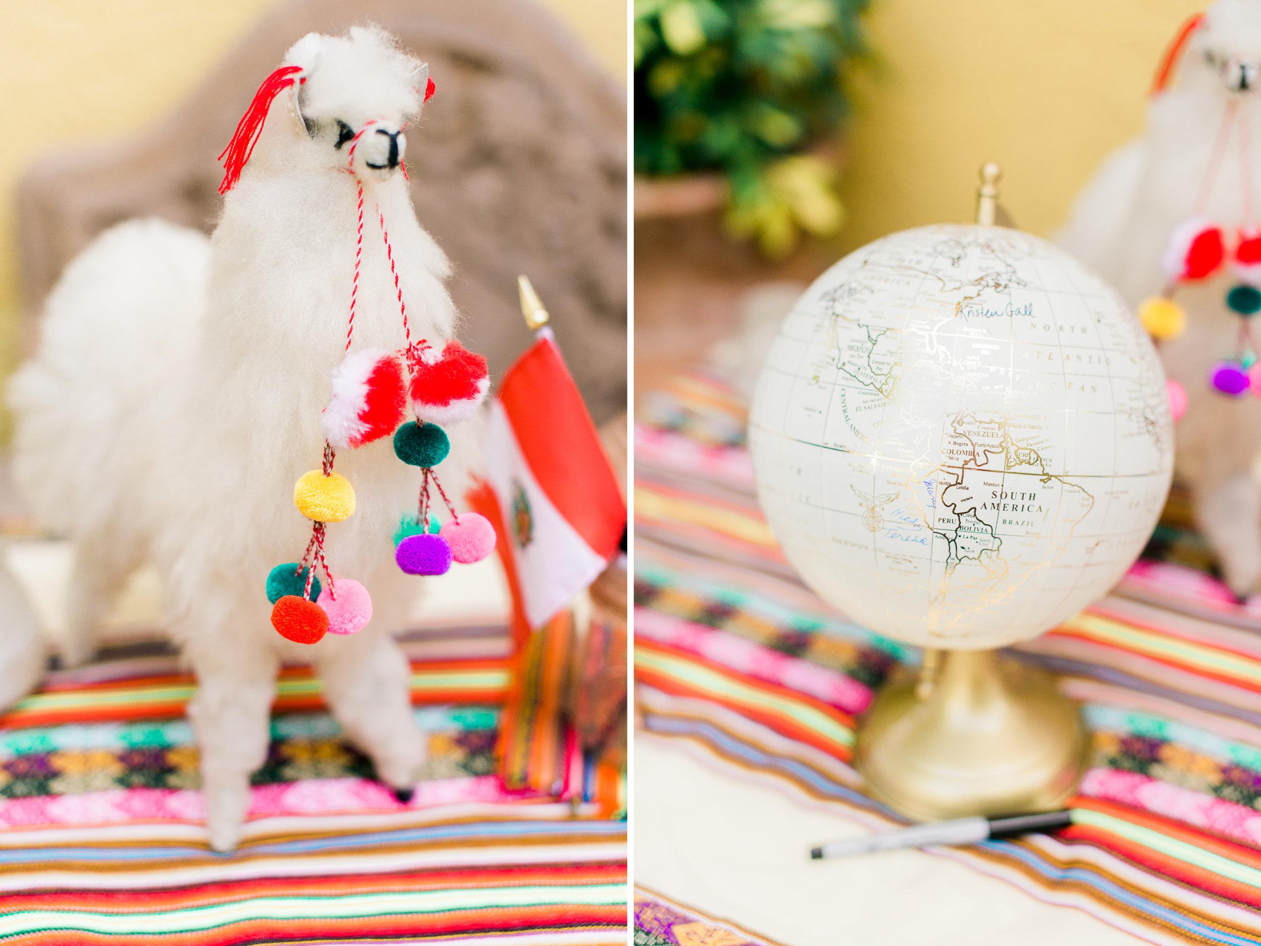 Llama wedding detail
