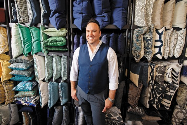 Home stager Johnathan Miller in his warehouse (Photo by Ash Daniel)    Real Estate Illusionists  Stagers Johnathan Miller and Tori Toth know how to make homebuyers imagine themselves in your space  by  Susan Winiecki   June 24, 2019  8:25 AM