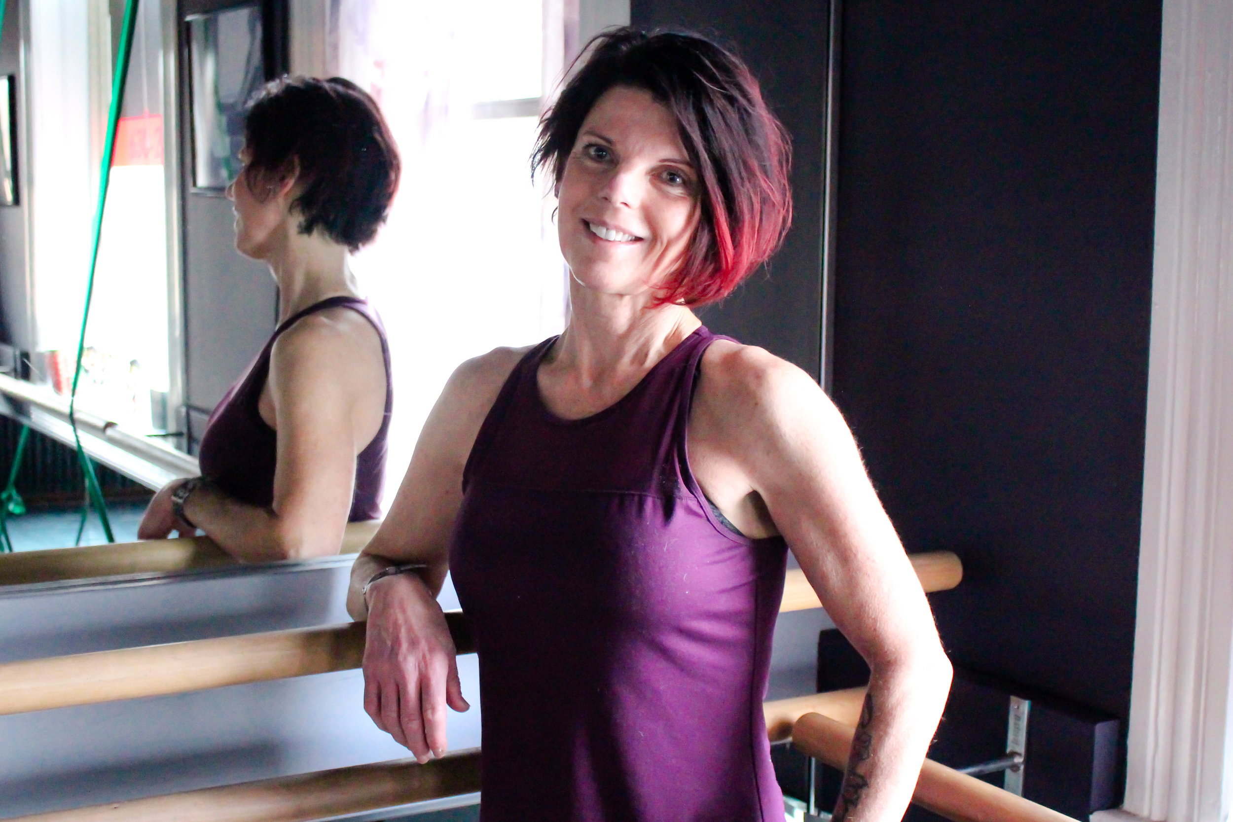 "DAWN CHURNEY   Dawn has over 20 years of teaching experience and is AFAA Group Fitness, Pilates, Piloxing, WERQ, Barre Connect, and Zumba Certified. She became an instructor for the purpose of helping people feel better mentally and physically, and her favorite part of teaching is seeing client's reactions to their results! To her, ""it's all good""!"