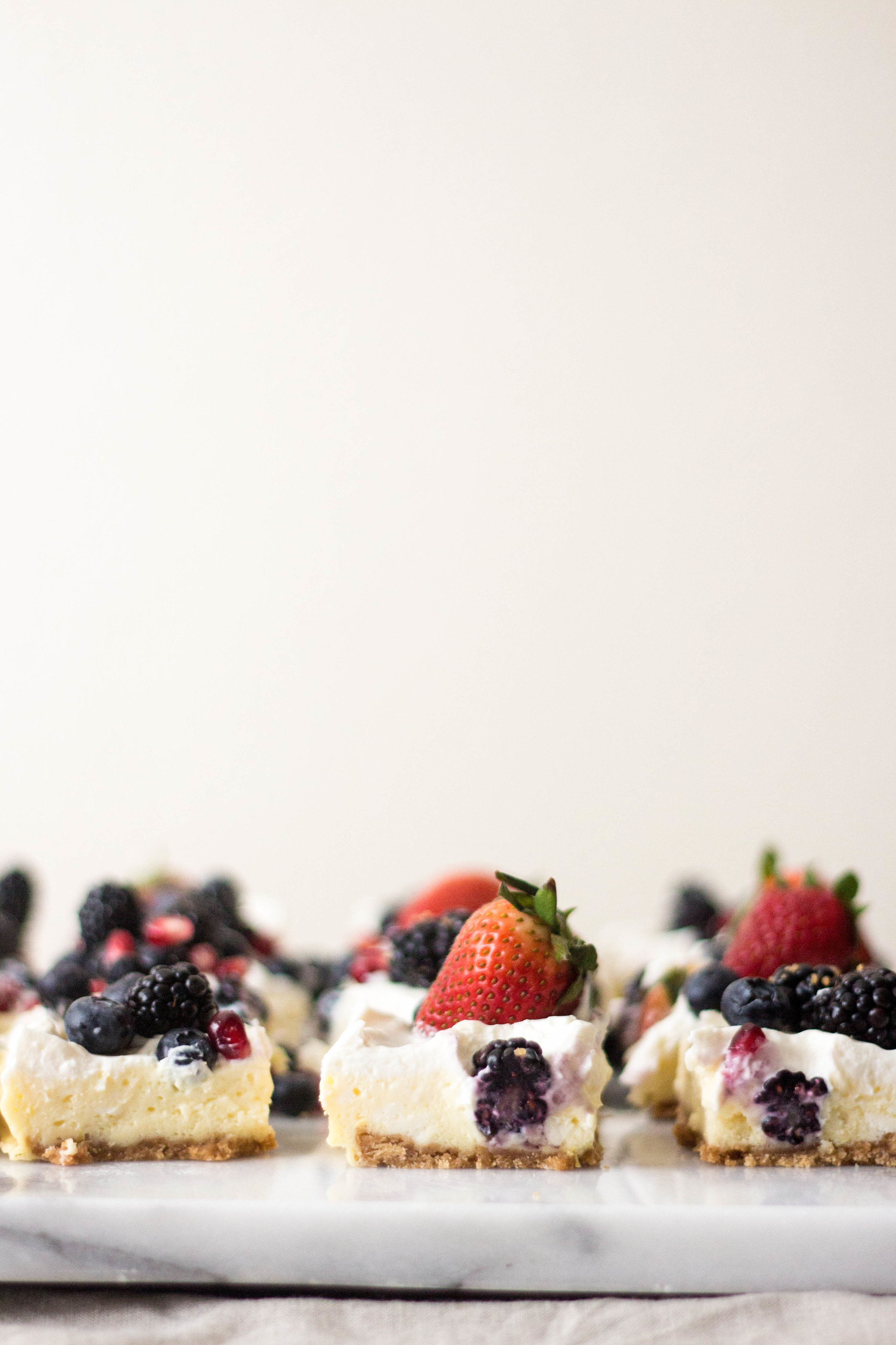 cheesecake with many many berries