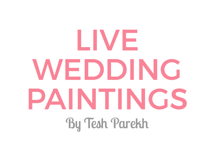 Live Wedding Painting by Tesh Parekh