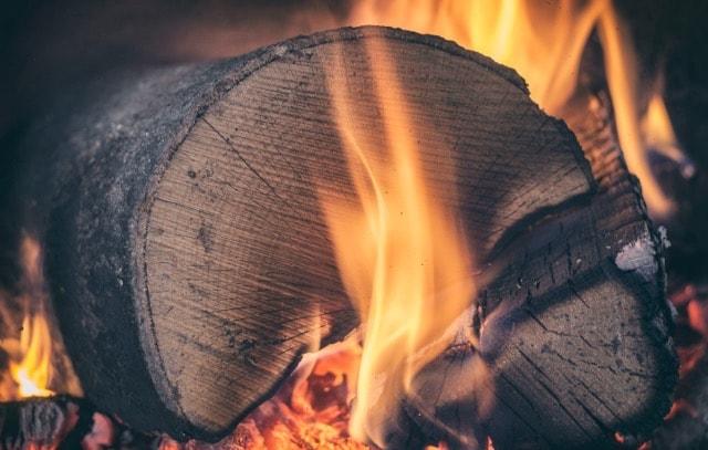 log in fire