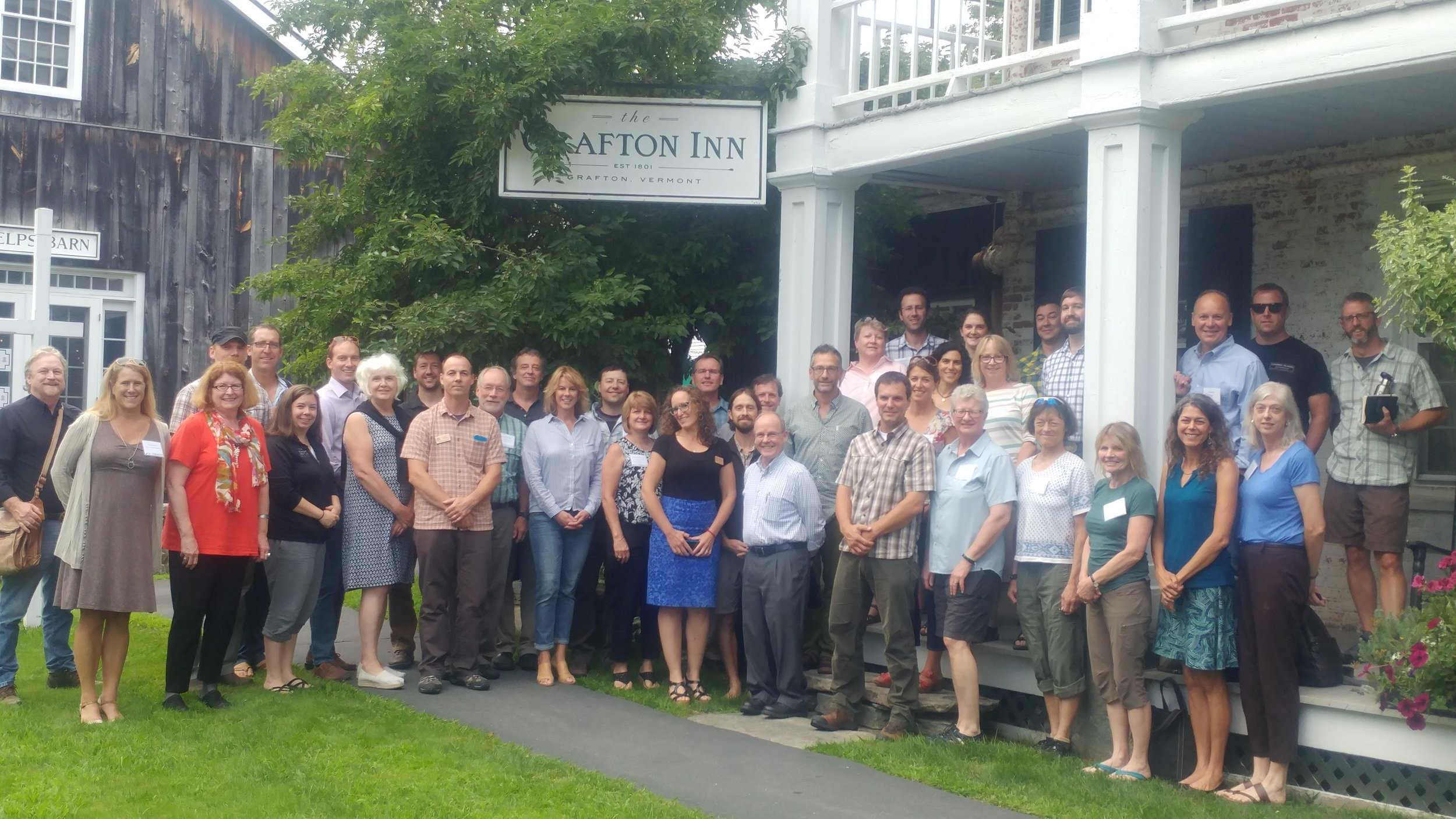 Participants in the Grafton Conference on Outdoor Recreation and Rural Economic Development held in August 2017.