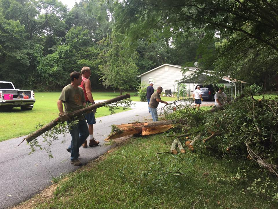 Cleaning Up Storm Debris at Home in Ninety Six
