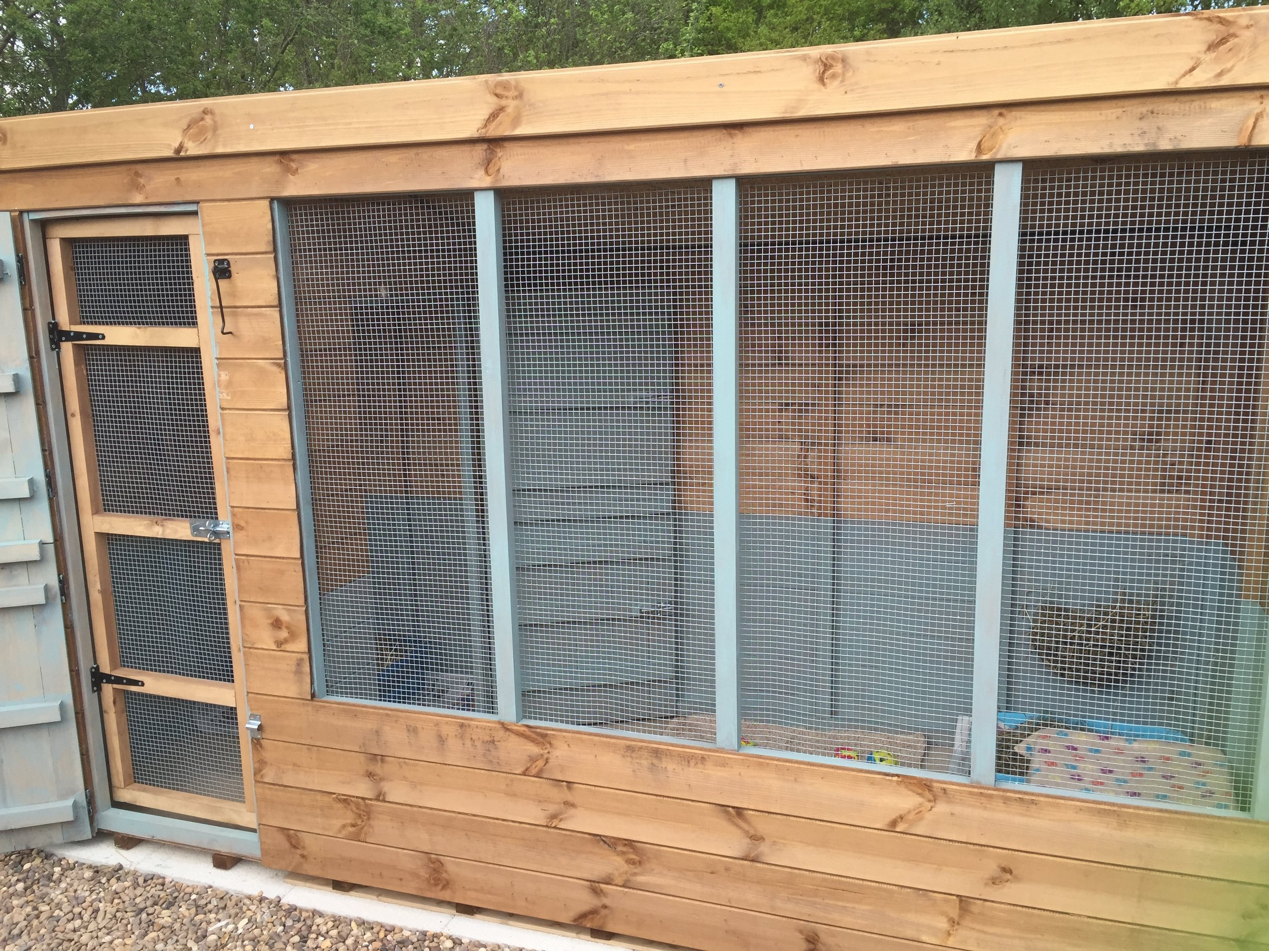 One of our 10ft rabbit cabins.