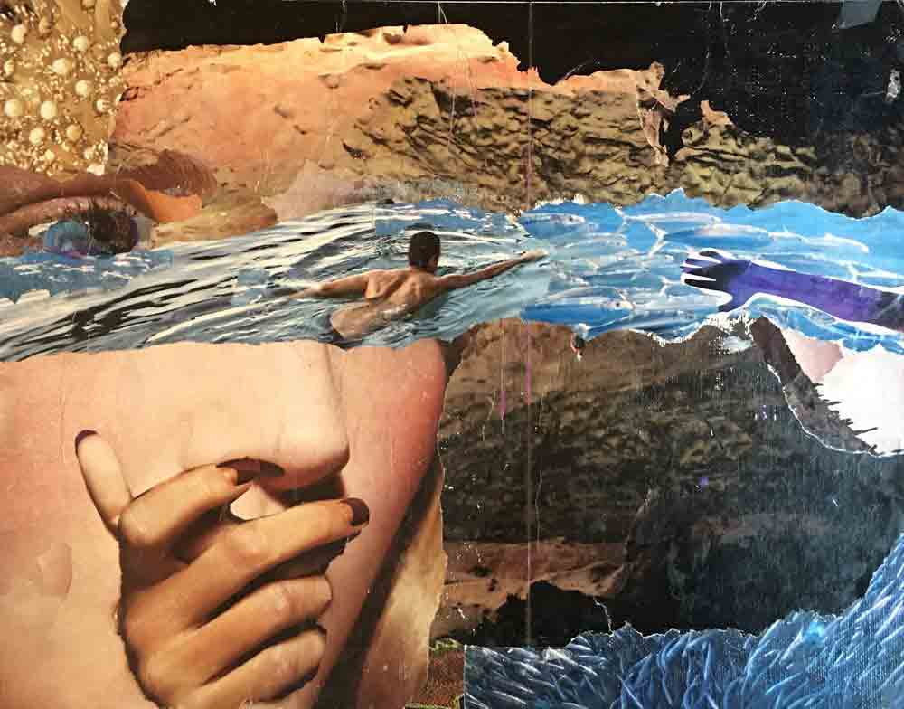Jerelle Kraus Collage Art - River Reach