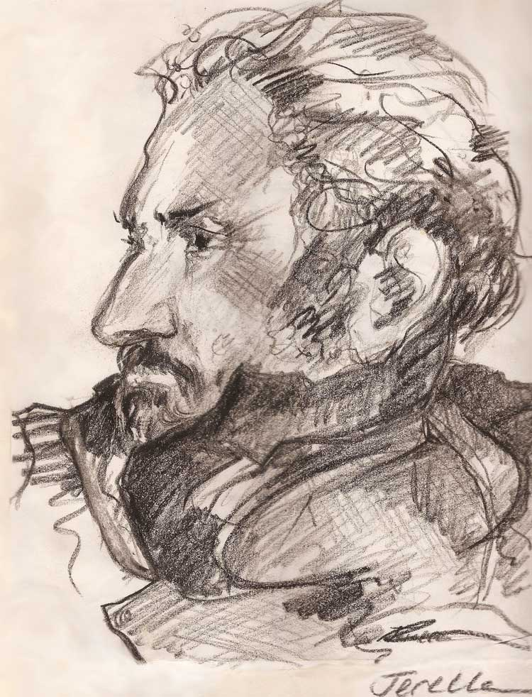 Jerelle Kraus Drawing - Portrait of Illustrator Horacio Cardo
