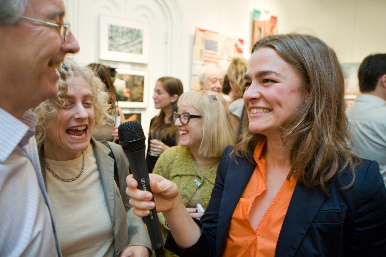 Former New York Times art director Gary Cosimini with Jane Kallir - Jerelle Kraus Book Launch Party
