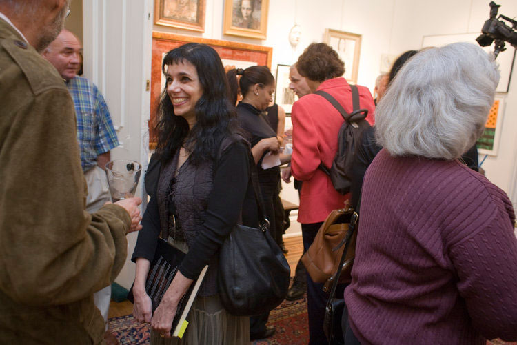 Artist and illustrator Frances Jetter at All the Art That's Fit to Print Book Launch Party