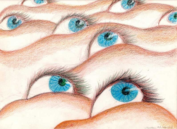 Jerelle Kraus Drawing - Eyescape