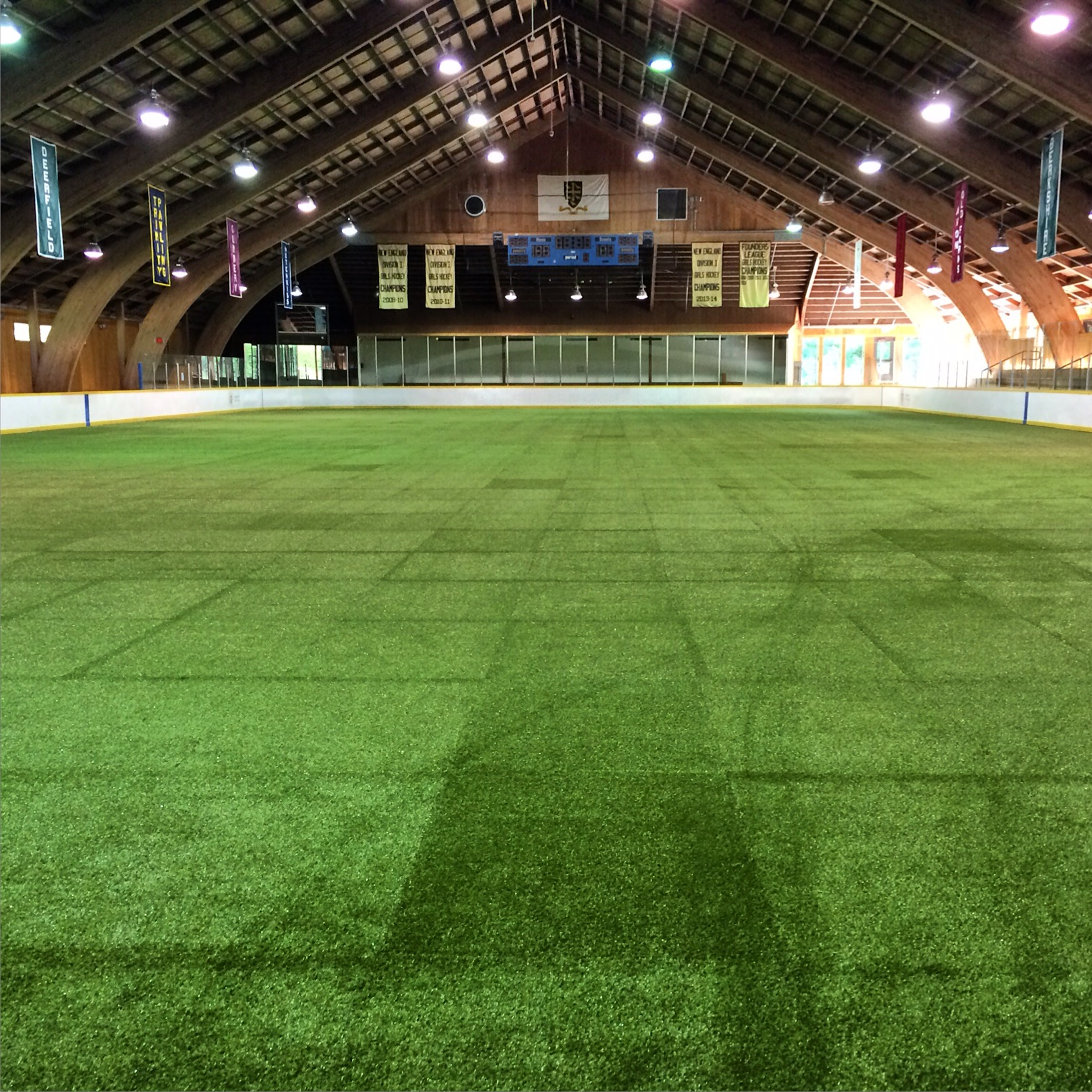 Indoor / Box Training Facility Features NHL sized hockey rink with brand new turf flooring to create a professional indoor lacrosse experience