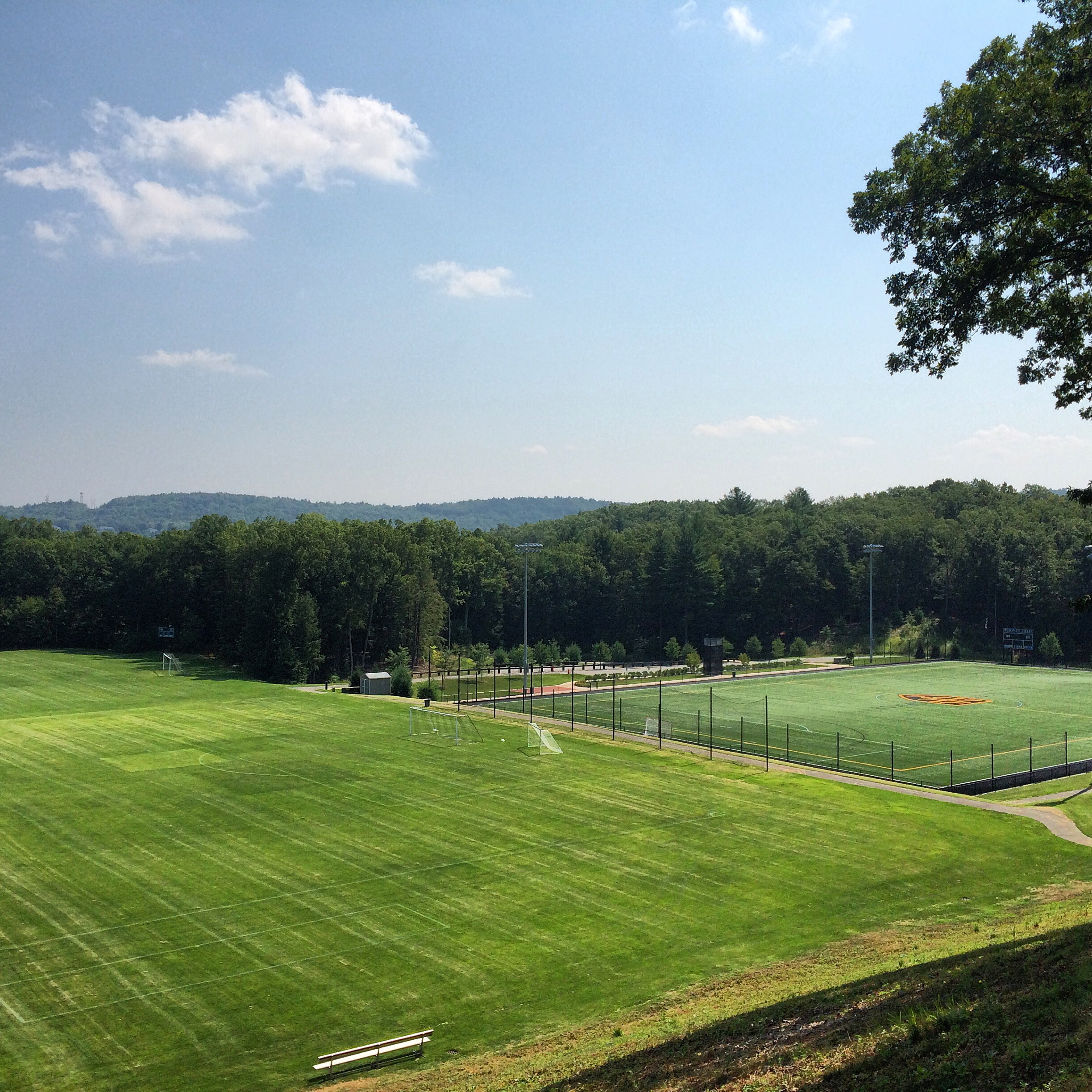 Outdoor Training Facility Features state-of-the-art turf field and professional grass fields