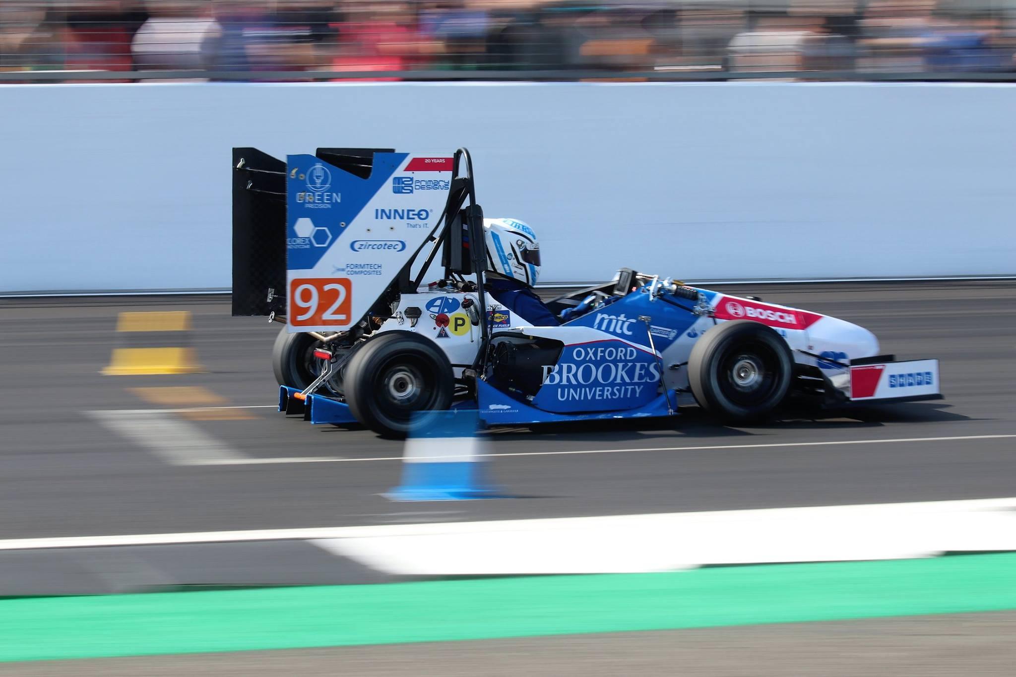 OXFORD BROOKES FORMULA STUDENT RACING CAR 2018