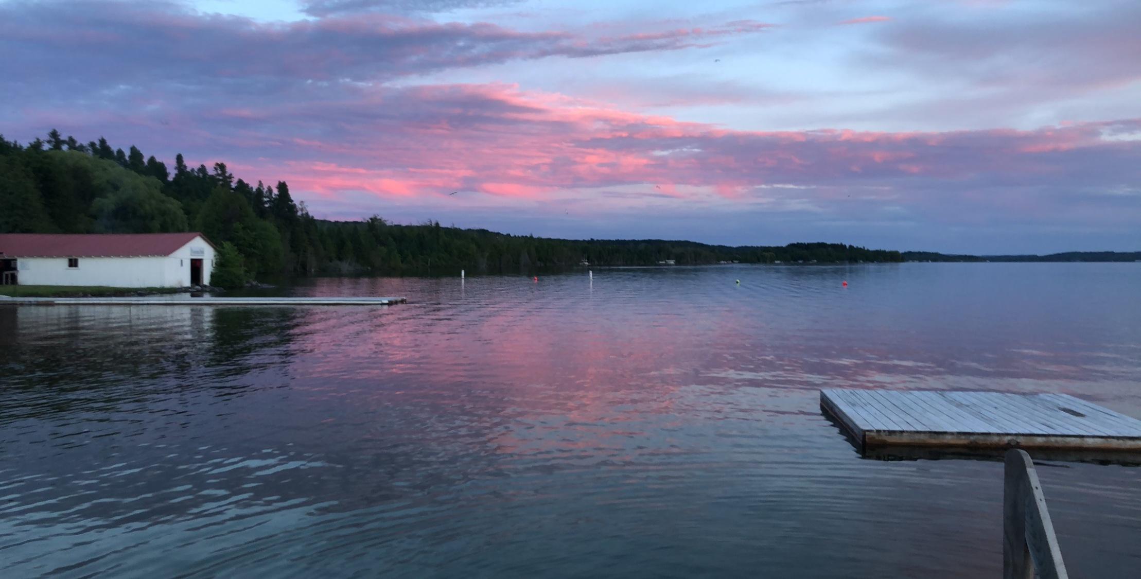 Lake Leelanau at sunset.