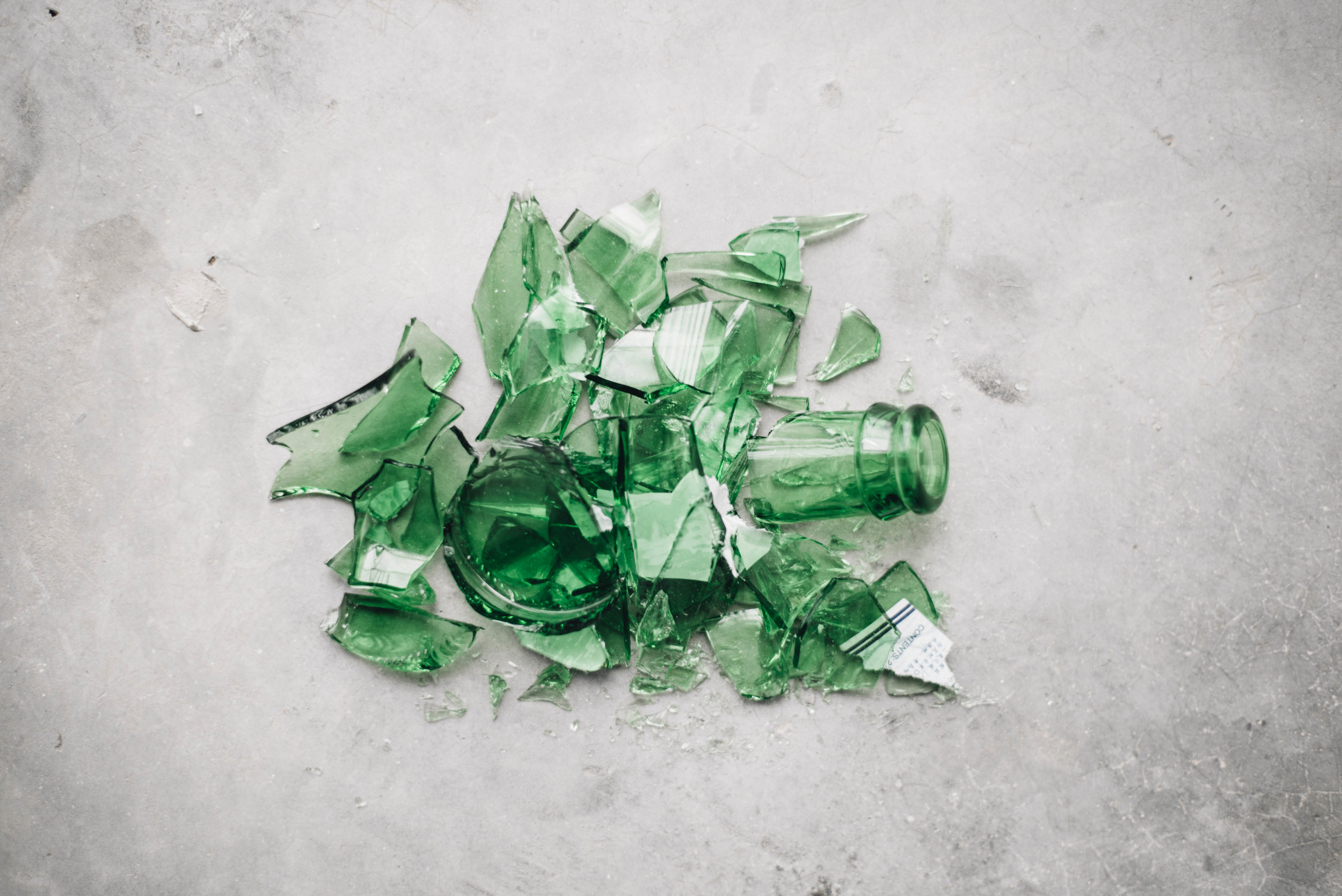 smashed bottle