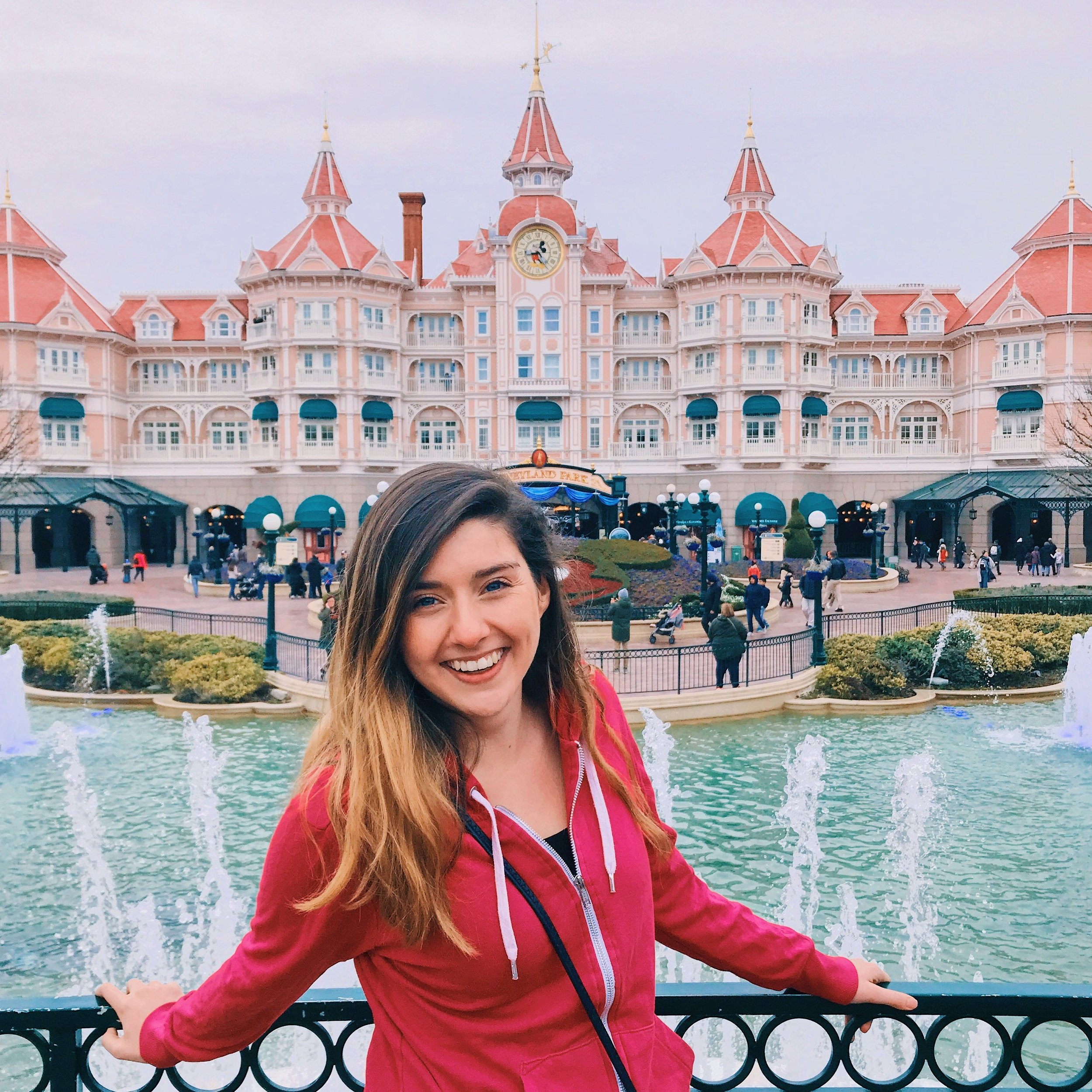 All smiles at Disneyland Paris, my 3rd Disney Park in 6 months.