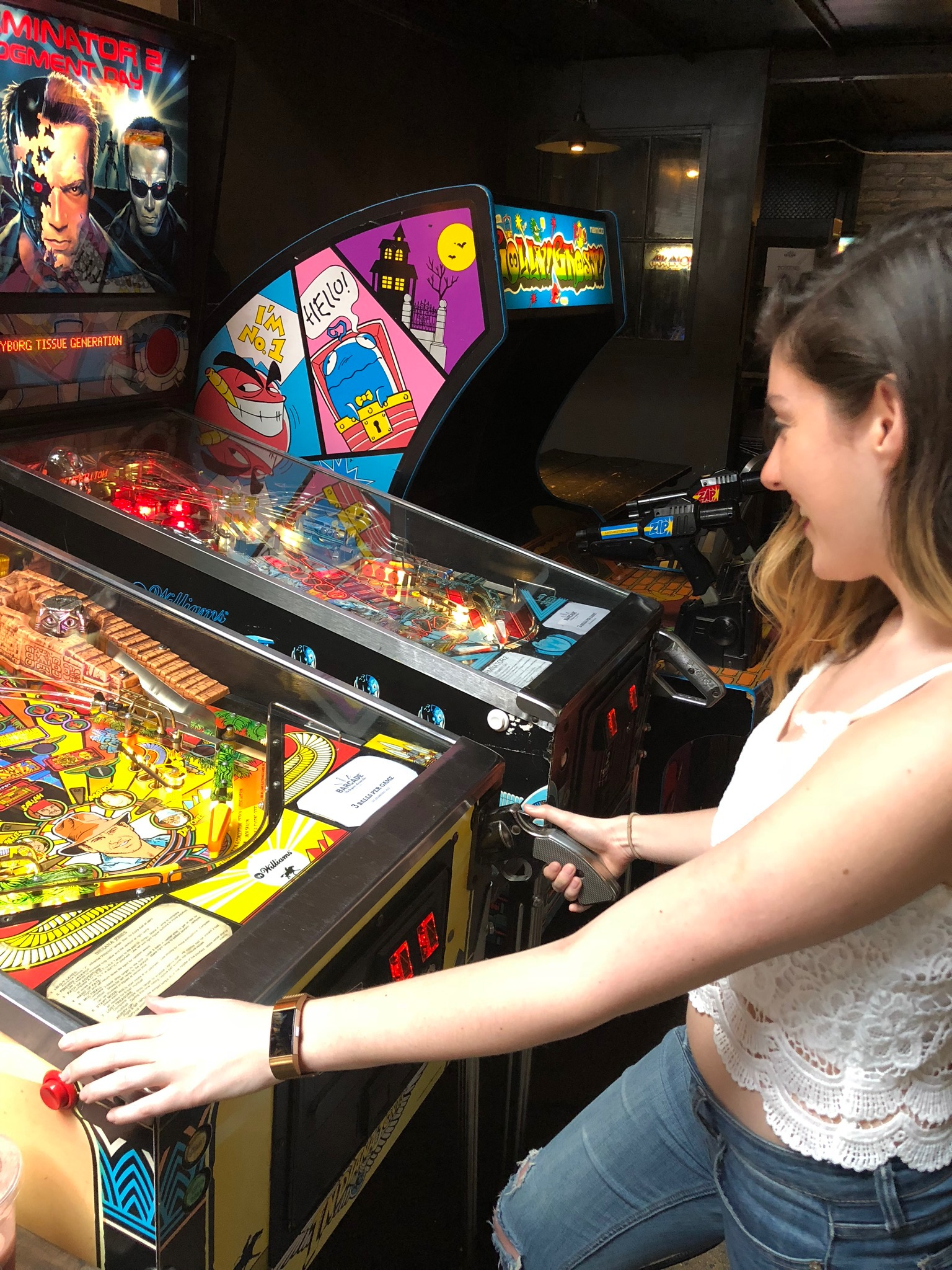 Reason #247 why Brooklyn is great: you can accidentally find an old-fashioned arcade bar and beat the high score for Indiana Jones pinball while enjoying a mimosa.