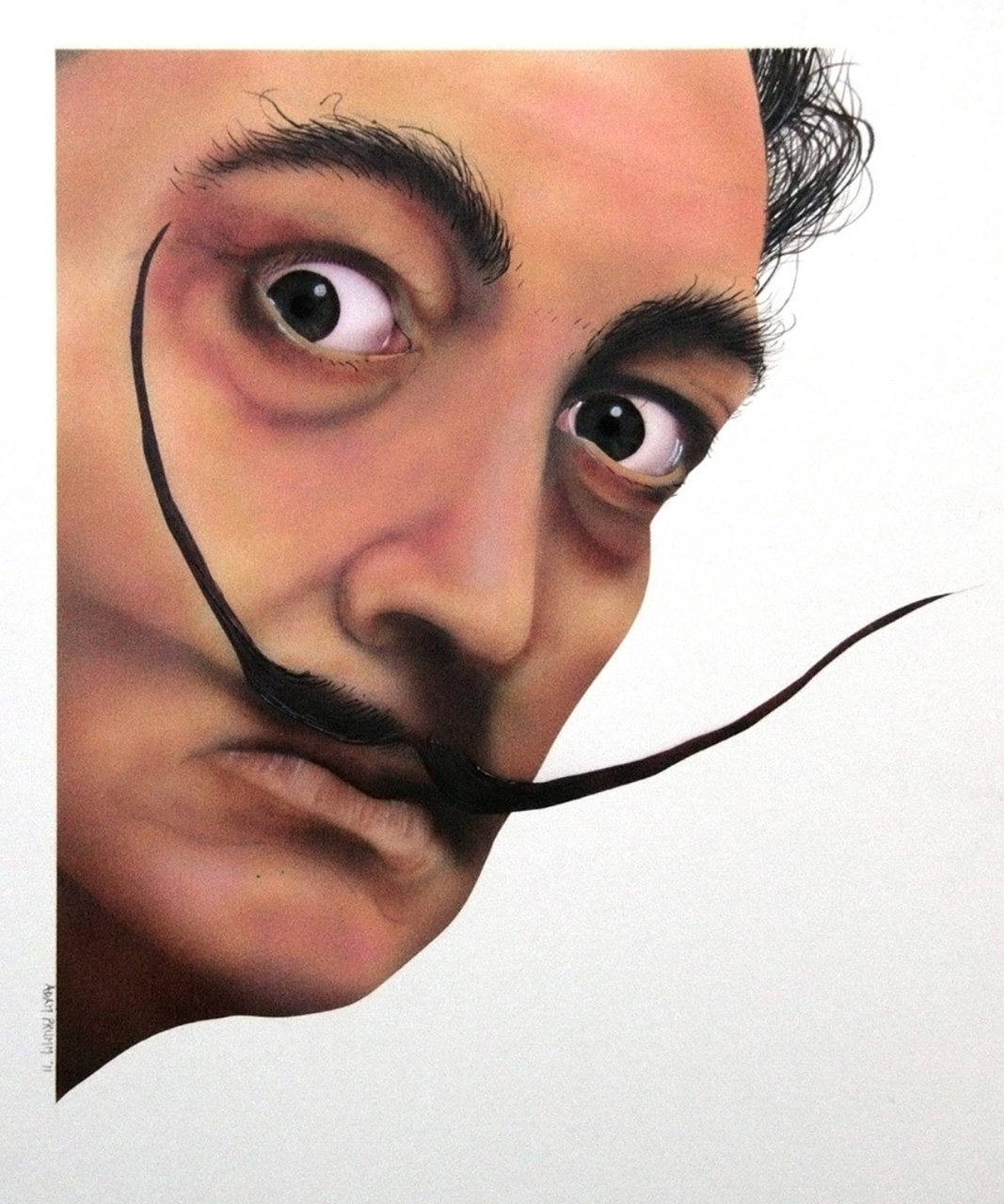 """Airbrush and brush on illustration board, 15""""x20"""""""
