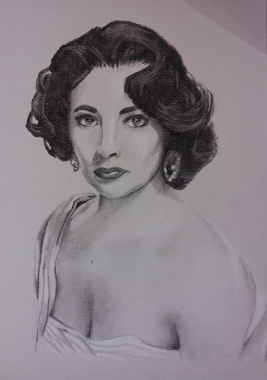 """Charcoal portrait, 15""""x20"""""""