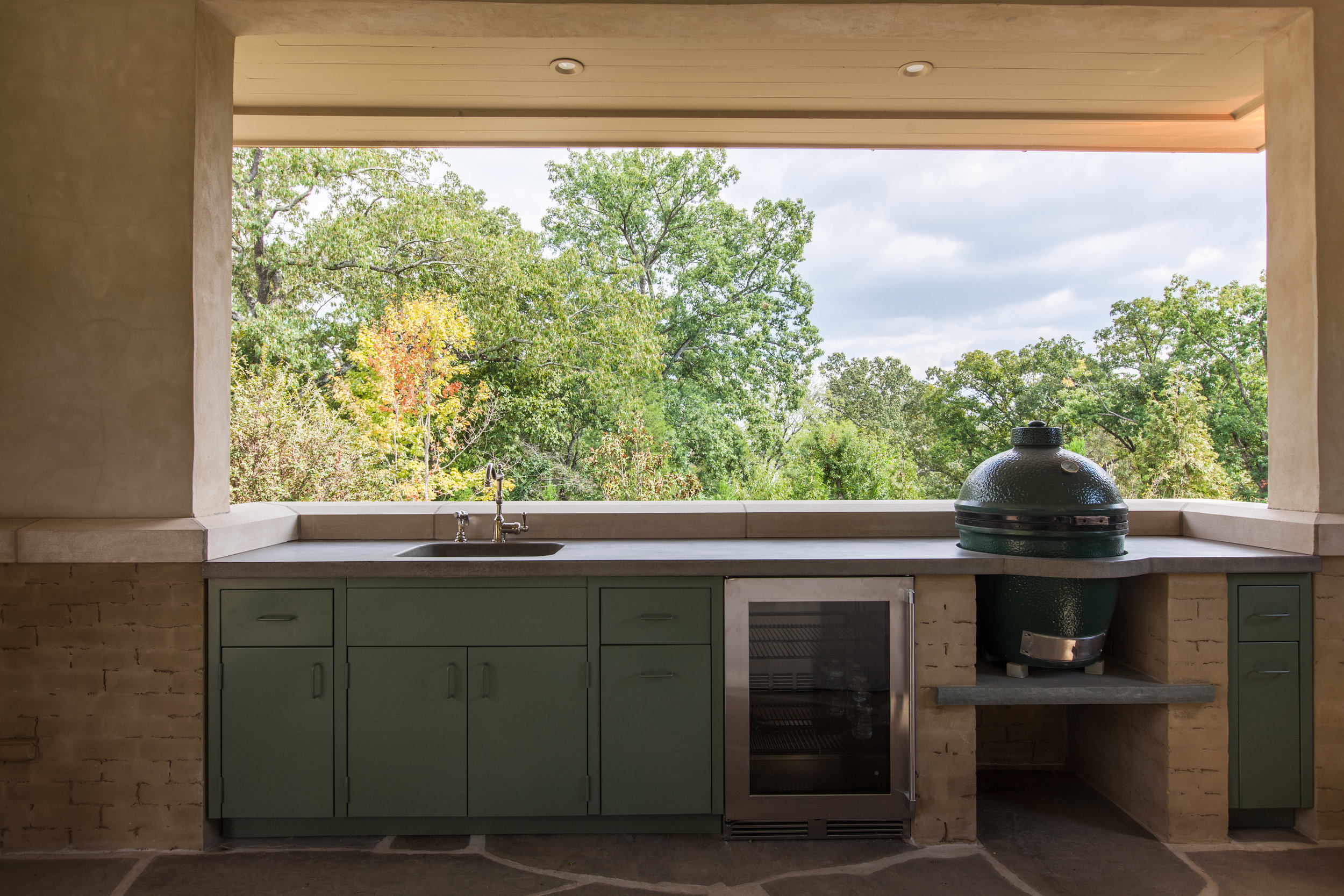 A proper grilling station with a proper view.  #residential