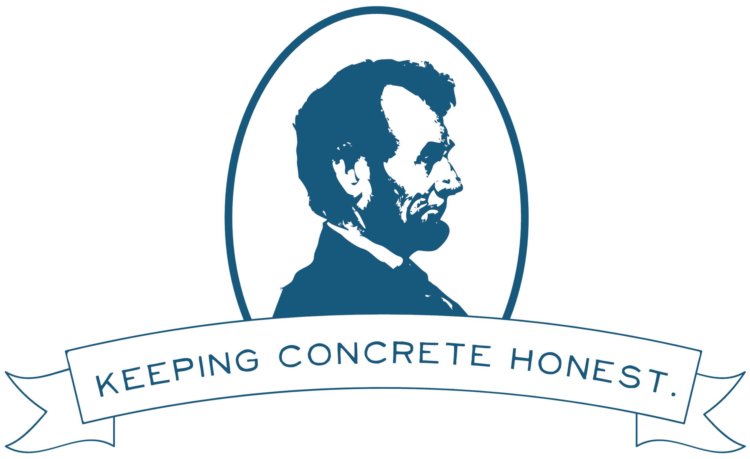 "a clever graphic showing abraham lincoln and saying ""Keeping Concrete Honest""."