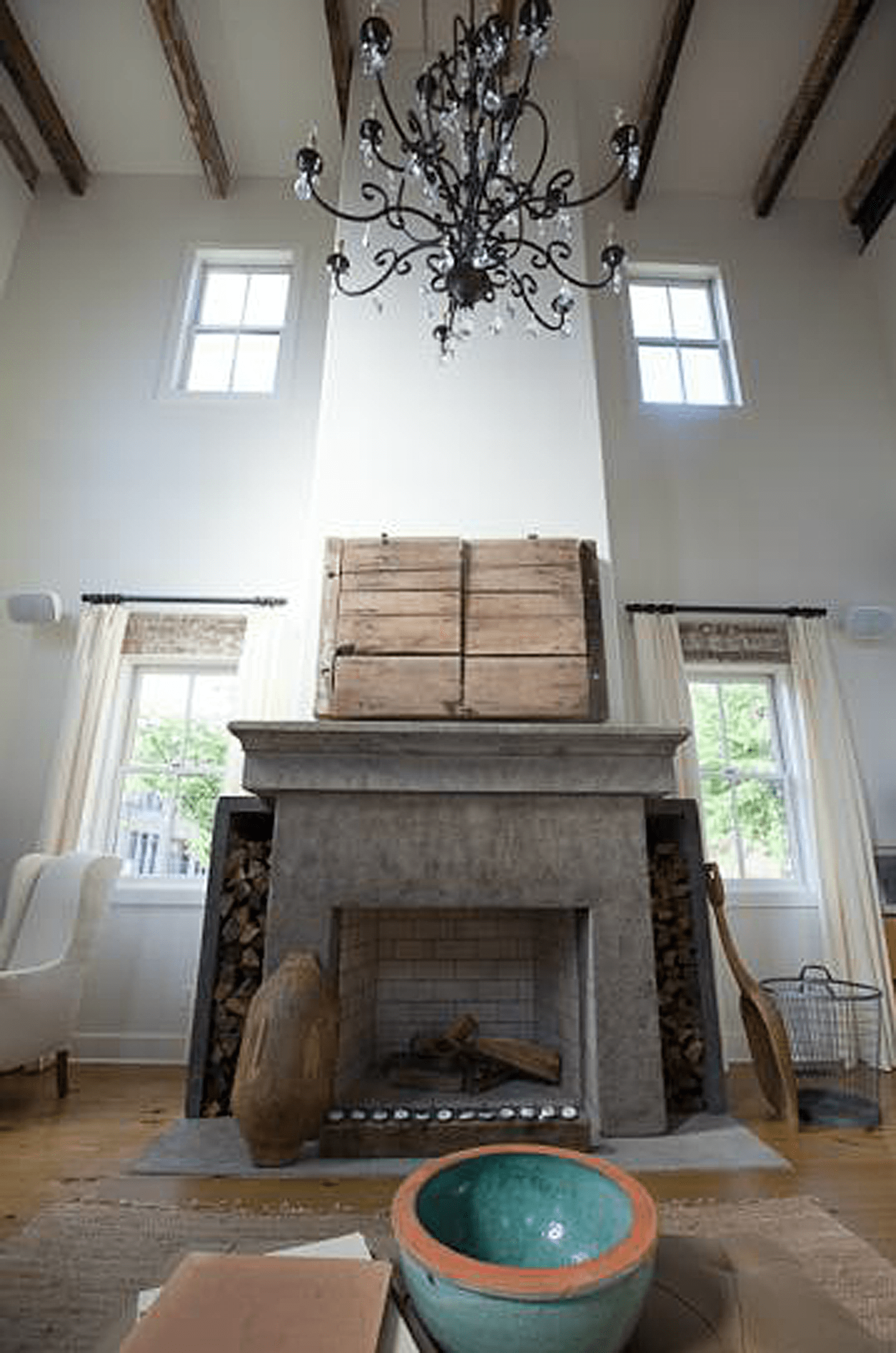 For this client we were asked to recreate a 250 year old mantle piece from Italy. The original was made of stone, so we went through an extensive process of developing a concrete mix that looked like the original. This was a challenging project, but in the end we were all quite pleased with the outcome.  #residential