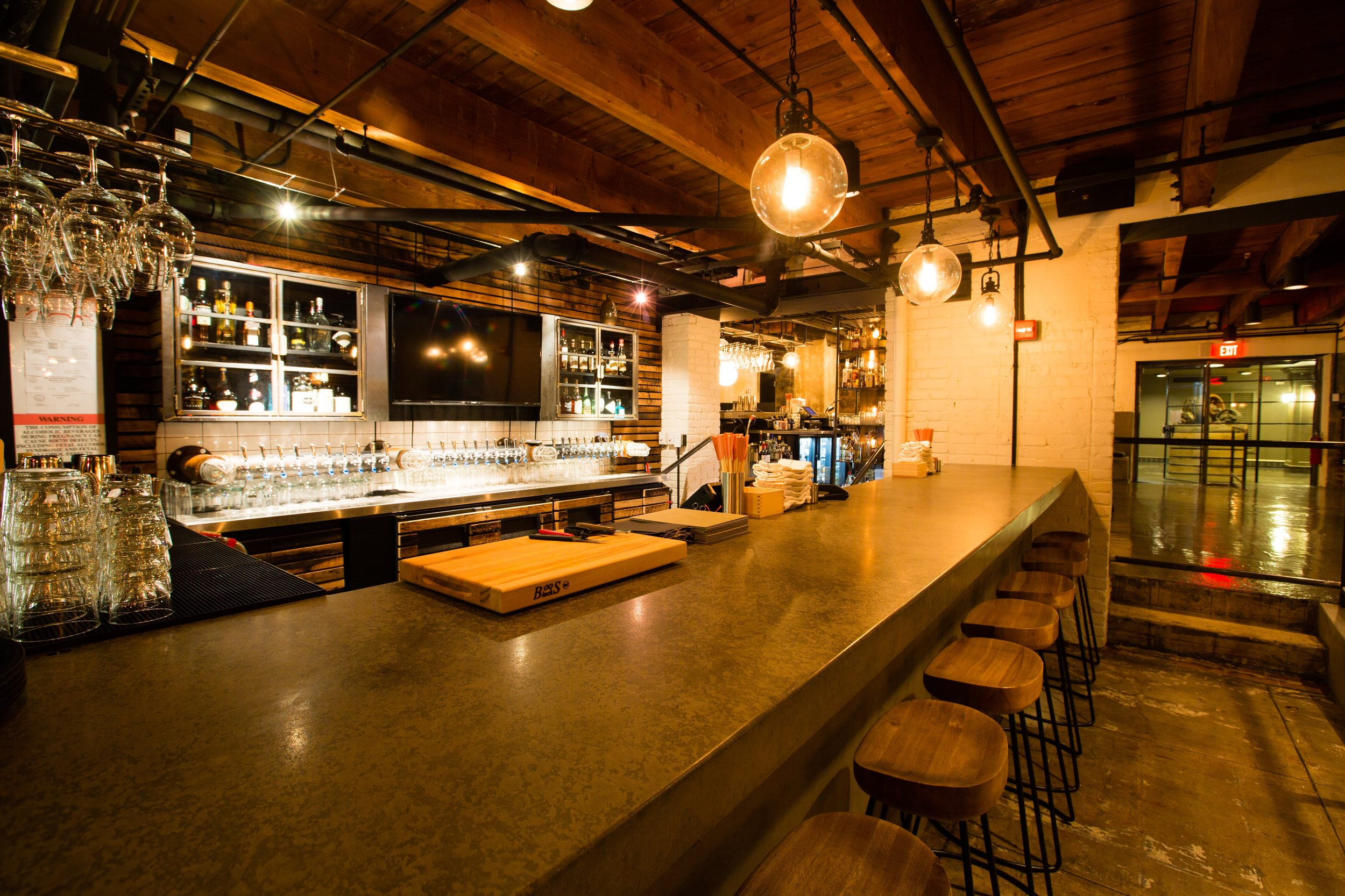 This is a local Izakaya and Ramen House. This was a great project because we were able to utilize waxed steel and concrete in a variety of ways. This is a beautiful space that leverages the individual nature of the materials to great affect. #commercial