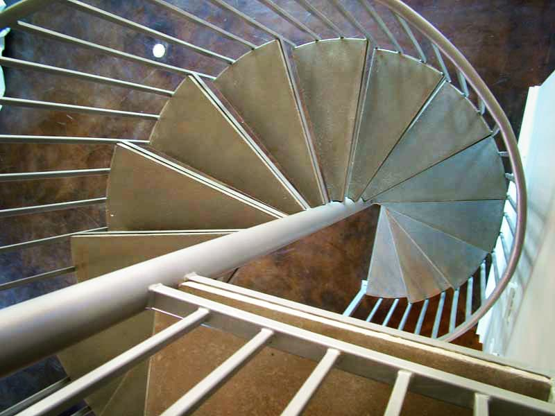 We cast the tread for this spiral staircase.  #residential