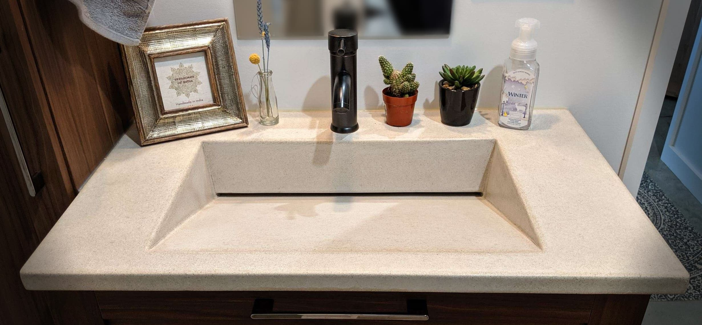 A classic wedge basin for a bathroom. Simple, functional,modern. #residential