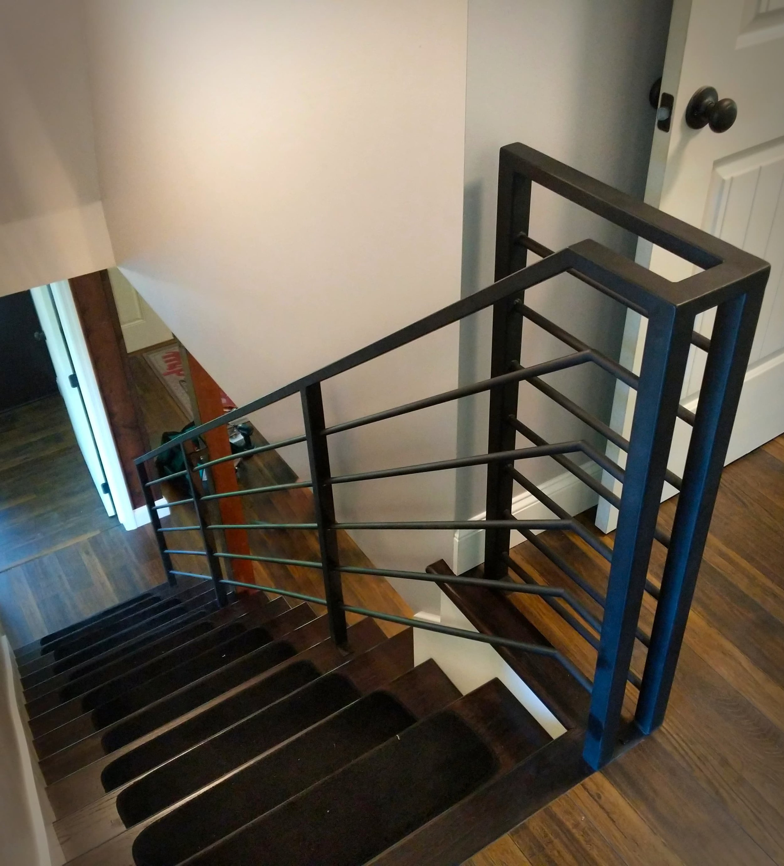 Steel railing. We regularly do railings of all sorts for residential and commercial applications. #residential #commercial