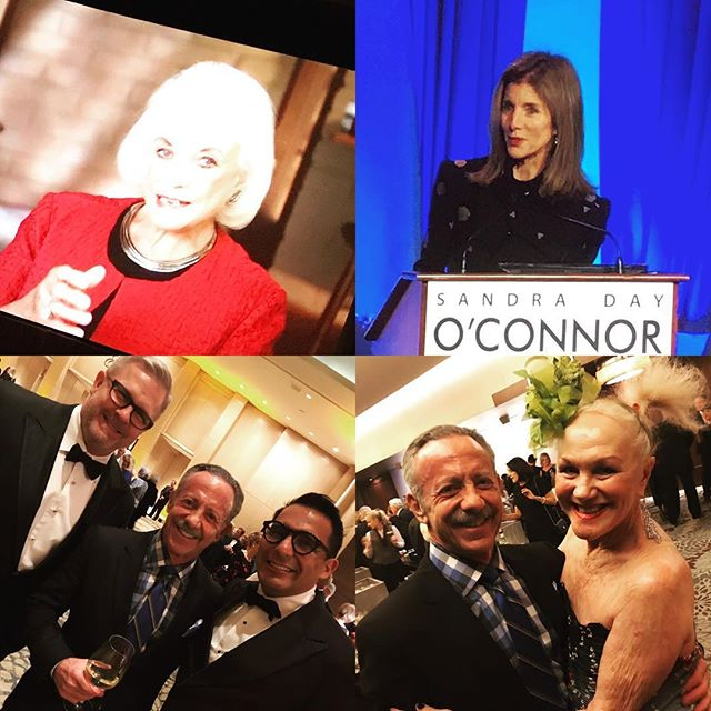 A bipartisan celebration of civic engagement with Sandra Day O'Connor, Caroline Kennedy, Billie Jo Herberger, Oscar De Las Salas, Gary Jackson and Dennis Ford. Who could ask for anything more?! #oconnorinstitute #phoenician #bipartisan #civicengagement #gala #arizona