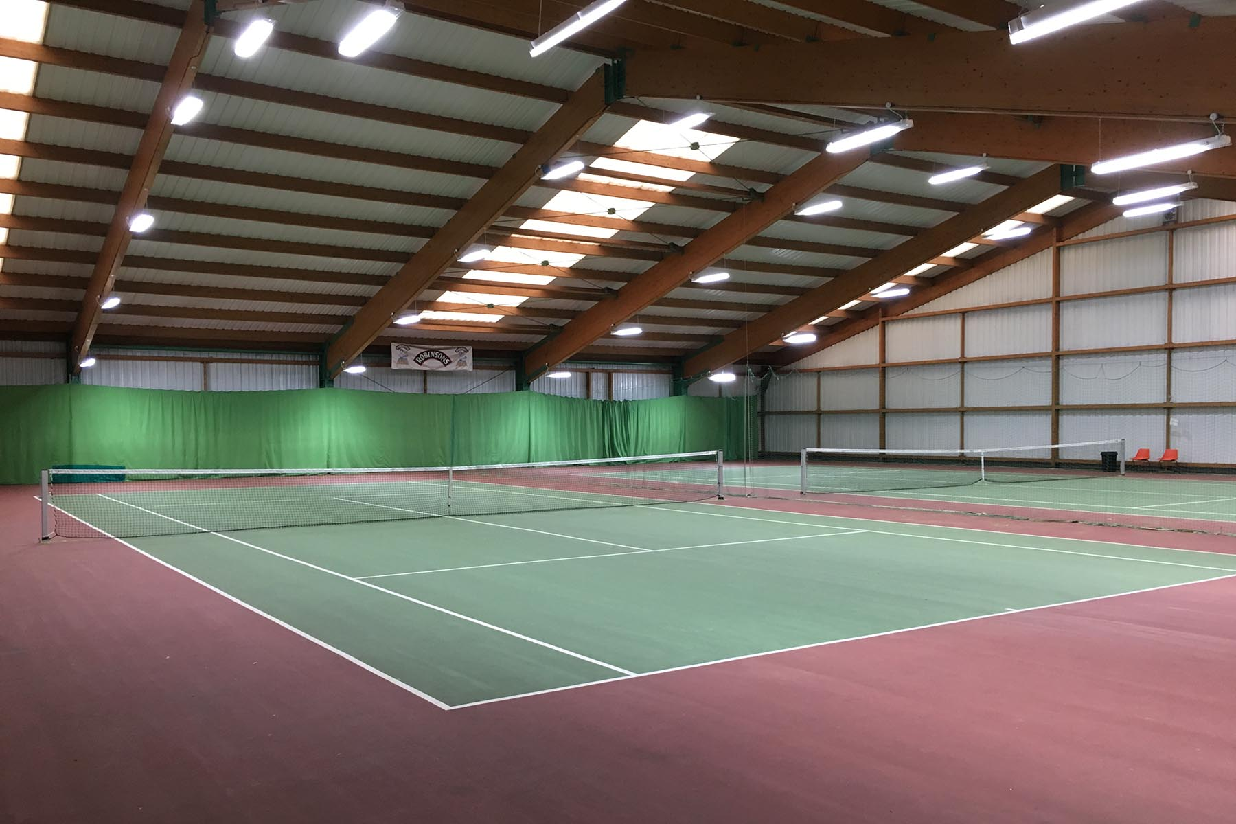 Indoor Courts - We have the use of 2 indoor courts providing year round play no matter the weather. Courts are available to hire from Downton Leisure Centre at a discounted rate throughout the year.Book a court →