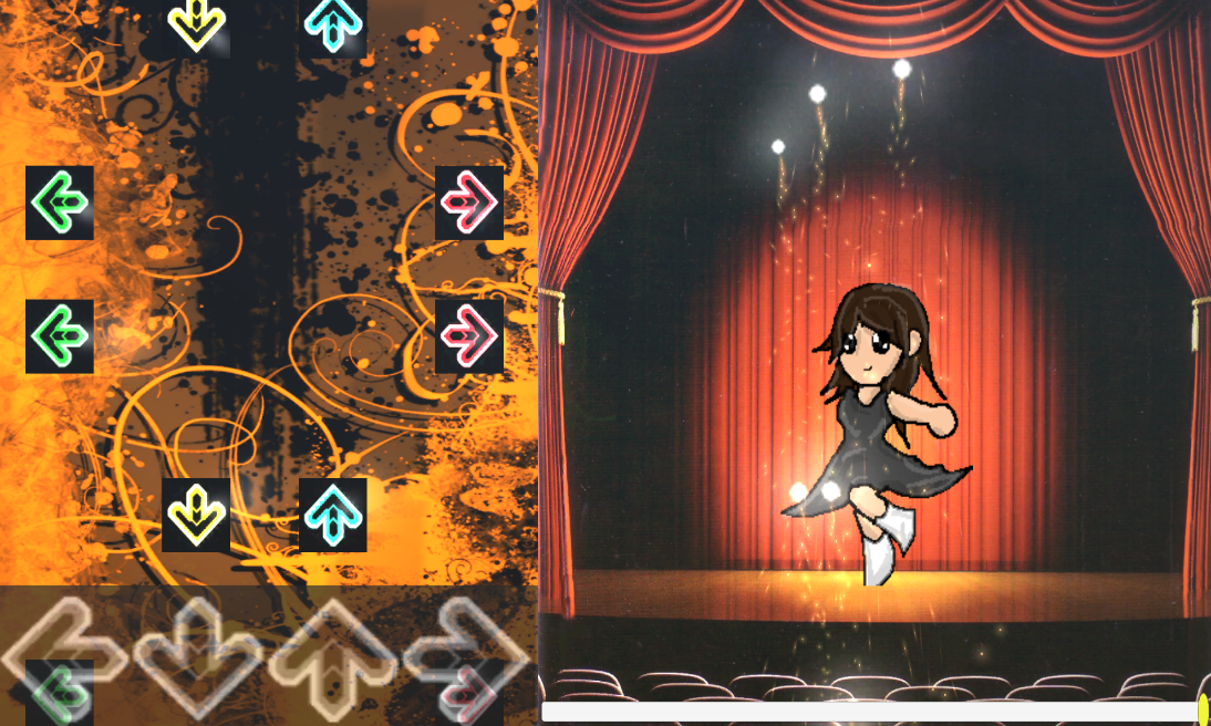 A game created for someone who always wanted to pursue their dreams to and be a performance artist.