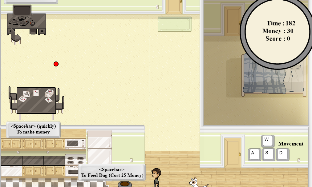 A game created as a reflection of my own viewpoints on balance with video games and other important aspects of life.