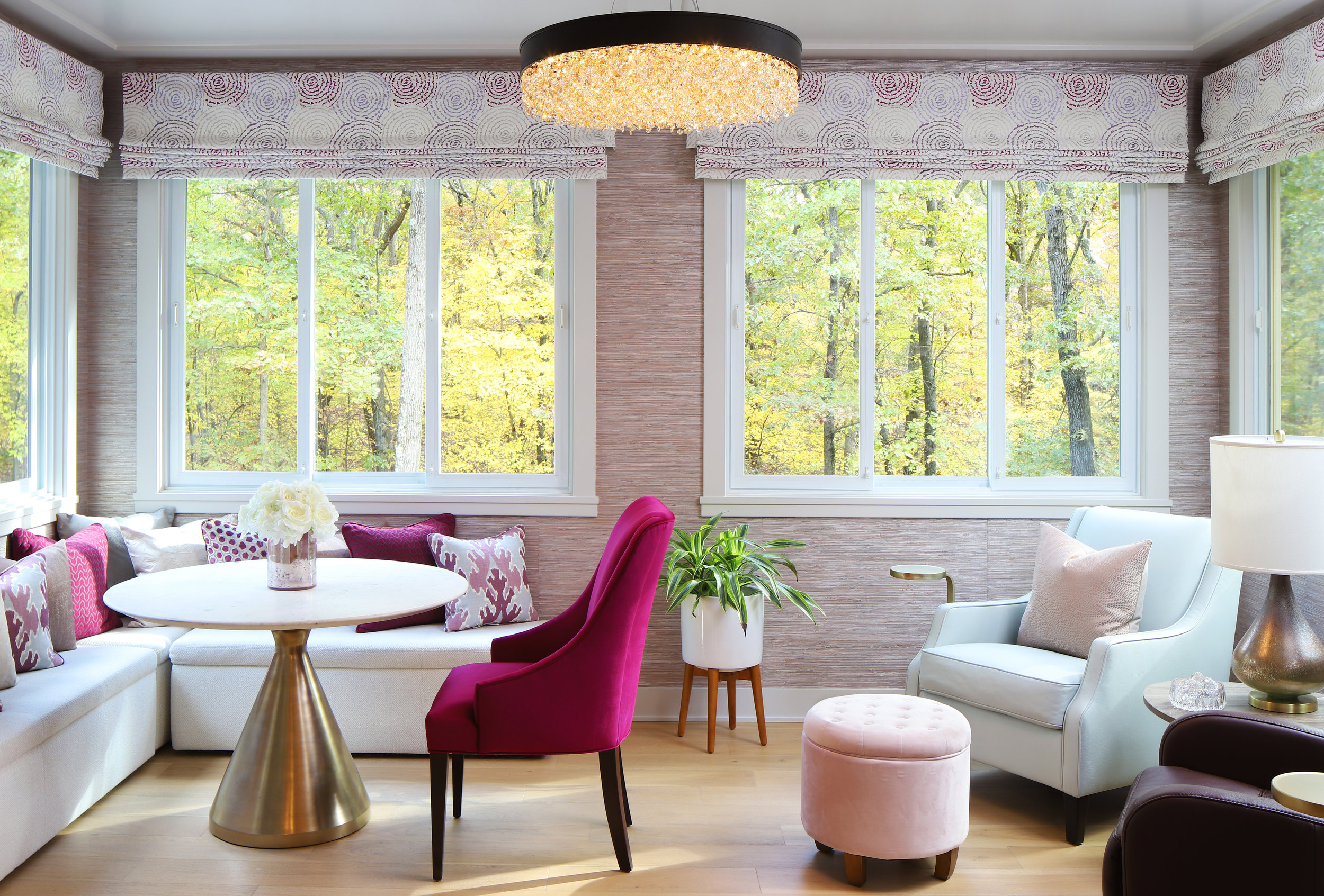 Glorious Magenta Sunroom