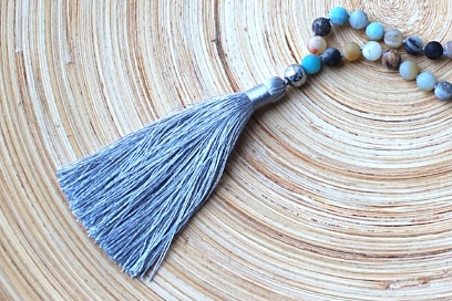 A Tassel from our I Am Serenity Mala