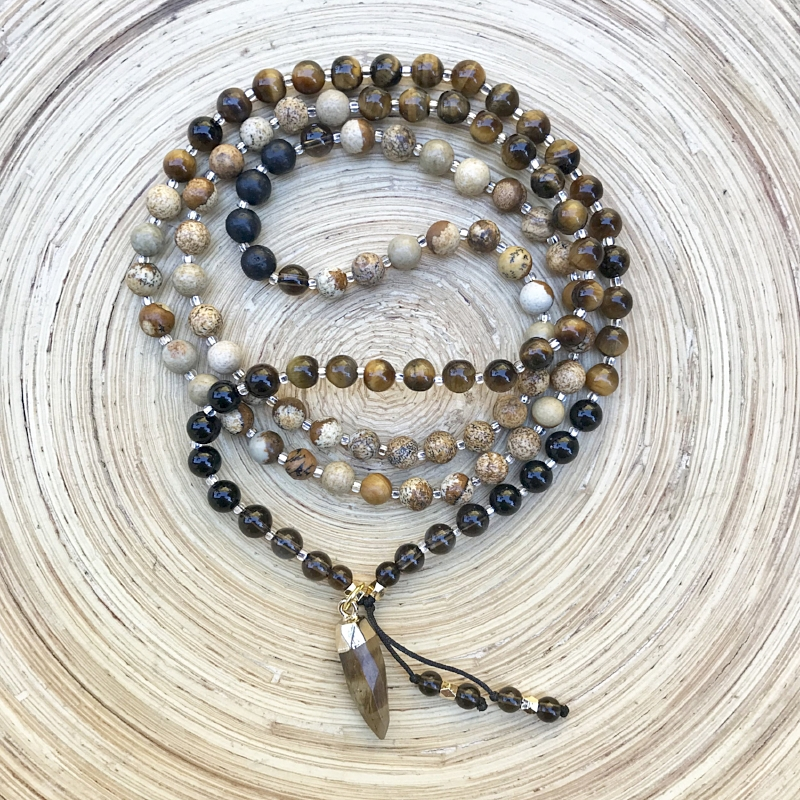 I Am Courageous Mala, perfect for firing up your solar plexus chakra.