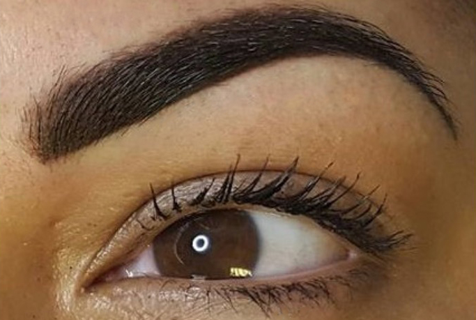 Powder Brows  This is where the full brow is shaded giving the effect of how your brows look with make up on them. This style suits most skin types.