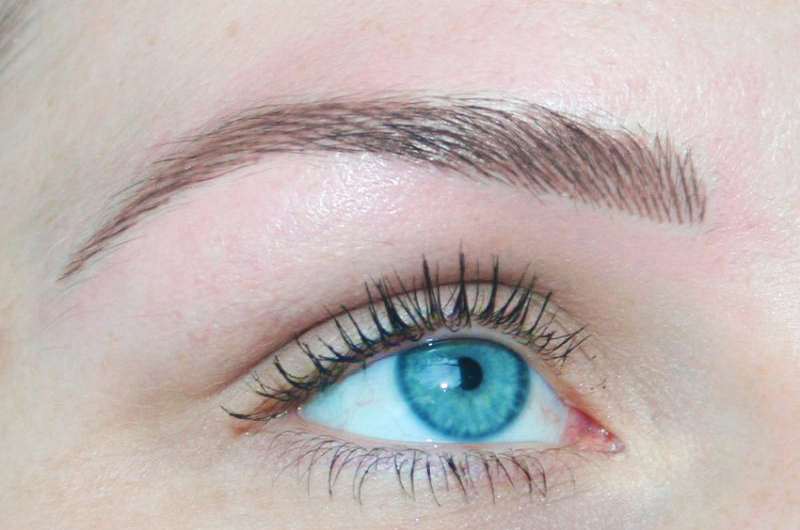 Hairstroke Brows  This style of brow is where we draw on lines giving the effect of hair growth for a very natural finish.    Please note  only certain skin types will hold the crispness of a hair stroke so consultation is needed to discuss if suitable for this style of brow.