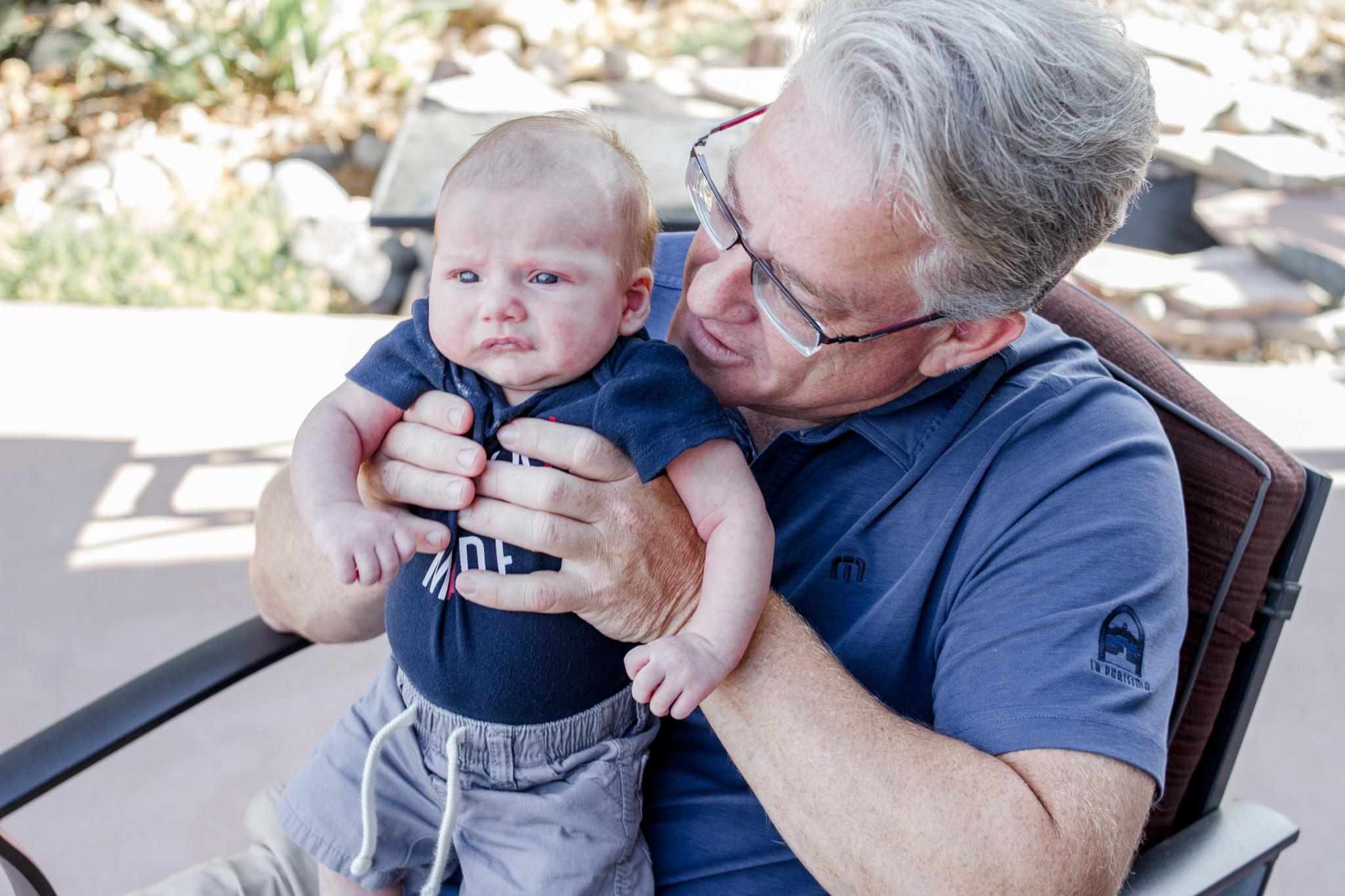 Everett and Grandpa Helgesen