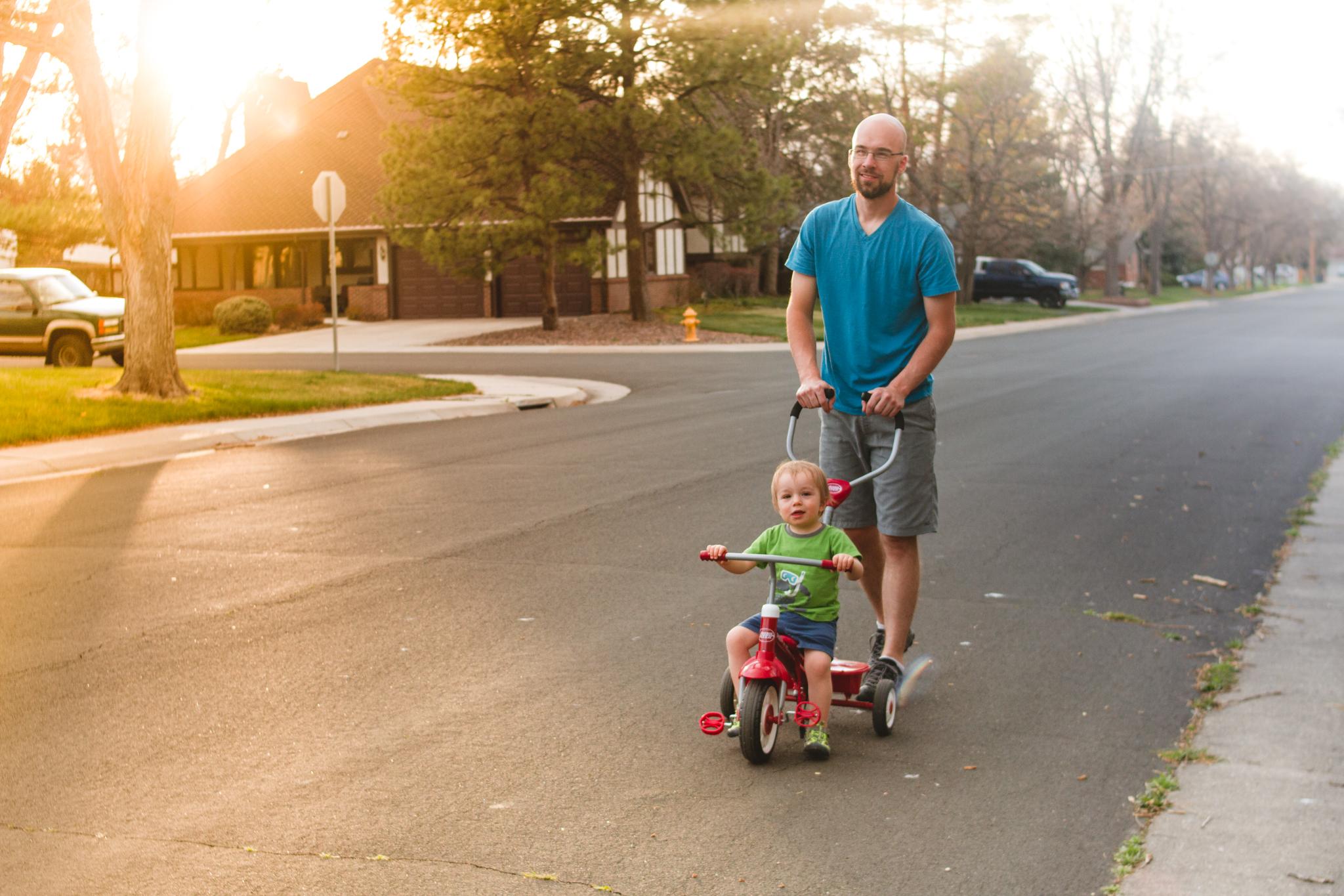 Evening walks in our neighborhood.